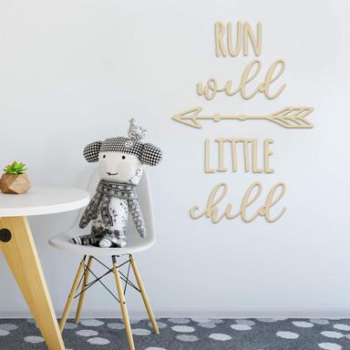 Holzkunst Pappel - Run wild little child