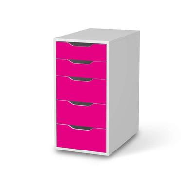 Klebefolie IKEA Alex 5 Schubladen - Pink Dark