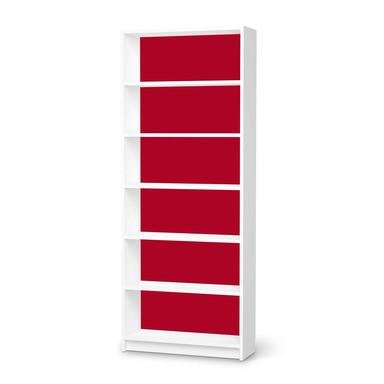 Klebefolie IKEA Billy Regal 6 Fächer - Rot Dark- Bild 1
