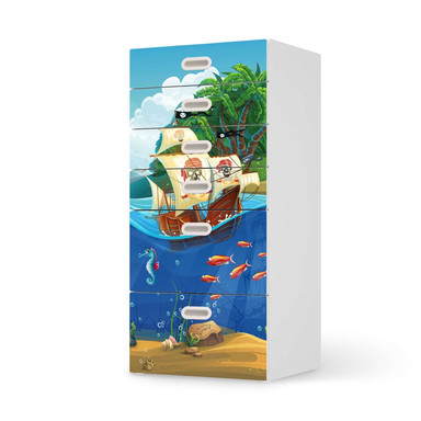 Klebefolie IKEA Stuva / Fritids Kommode - 6 Schubladen - Pirates- Bild 1