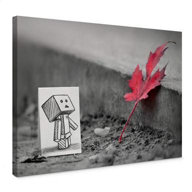 Leinwandbild Heine - Stift vs. Kamera - Das rote Blatt