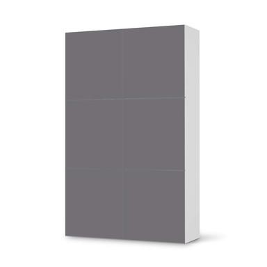 Möbel Klebefolie IKEA Besta Schrank 6 Türen (hoch) - Grau Light- Bild 1