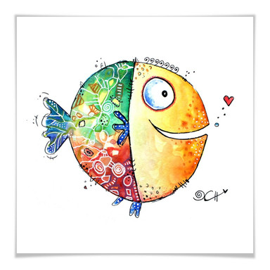 Poster Hagenmeyer - Happy Fish