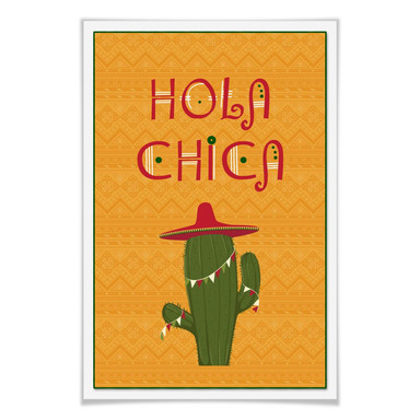 Poster Hola Chica