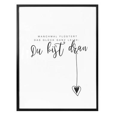 Poster Manchmal flüstert das Glück ganz leise