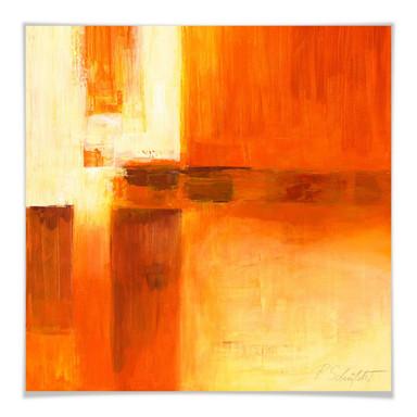 Poster Schüssler - Composition in Orange and Brown - quadratisch