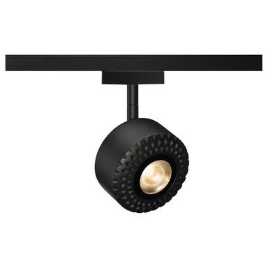 Tothee LED Strahler für 2Phasen Hochvolt-Stromschiene, 3000K, schwarz, 25°, inkl. 2 Phasen-Adapter