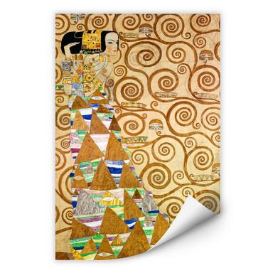 Wallprint Klimt - Die Erwartung