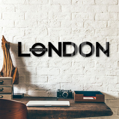 Acrylbuchstaben London - Underground