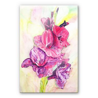 Acrylglasbild Toetzke - Gladiolen Bouquet in Violett