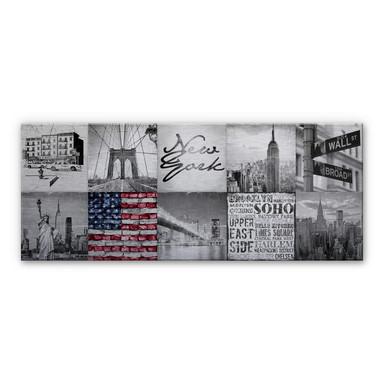 Alu-Dibond Bild Impressions of New York City - Panorama