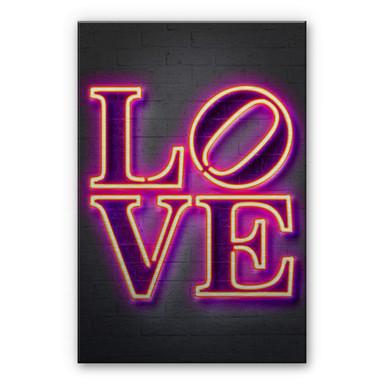 Alu-Dibond-Silbereffekt Mielu - Love