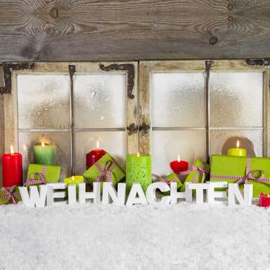 Dekobuchstaben 3D Weihnachten