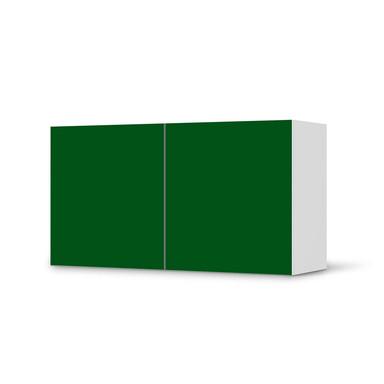 Folie IKEA Besta Regal 2 Türen (quer) - Grün Dark