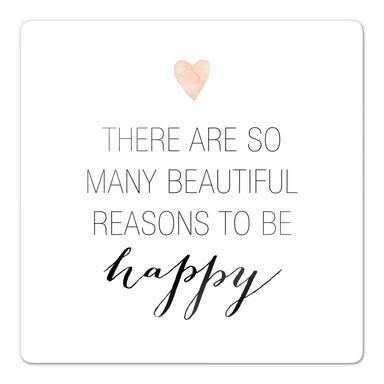 Glasbild Confetti & Cream - Many reasons to be happy