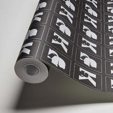 Karl Lagerfeld Wallpaper Vliestapete Kameo metallic, schwarz