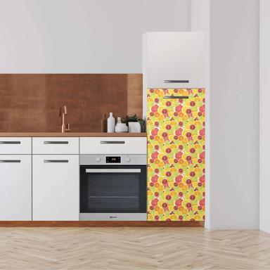 Klebefolie - Hochschrank (60x140cm) - Citrus- Bild 1