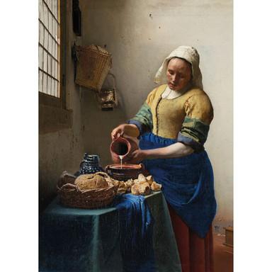 Leinwandbild Dienstmagd mit Milchkrug (Johannes Vermeer) - Bild 1
