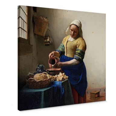 Leinwandbild Vermeer - Das Mädchen mit dem Milchkrug - quadratisch