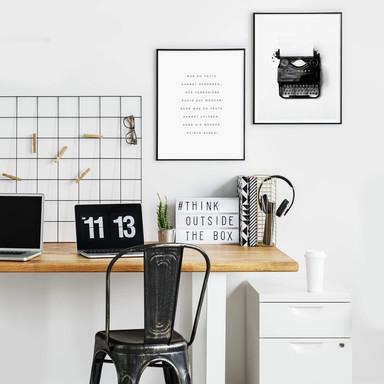 Poster-Set mit Bilderrahmen Was du heute kannst besorgen… (2er Set) - Bild 1