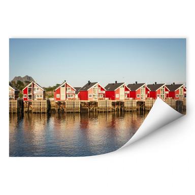Wallprint Ferienhäuser am Meer