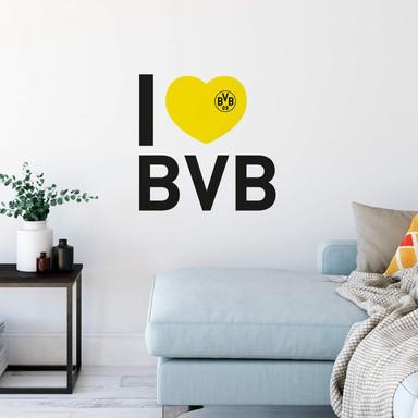 Wandsticker I love BVB