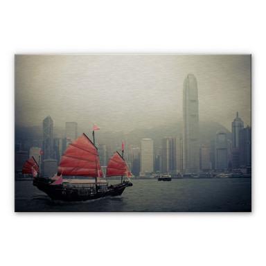 Alu Dibond Bild Sailing in Hongkong