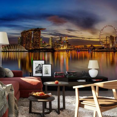 Fototapete Xie - Lights in Singapore