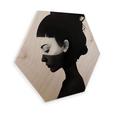 Hexagon - Holz Birke-Furnier Ireland - I am not here