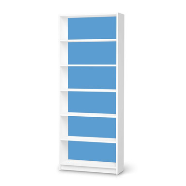Klebefolie IKEA Billy Regal 6 Fächer - Blau Light- Bild 1