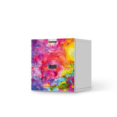 Klebefolie IKEA Stuva / Malad Kommode - 2 Schubladen - Abstract Watercolor- Bild 1