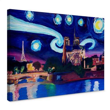 Leinwandbild Bleichner - Paris bei Nacht
