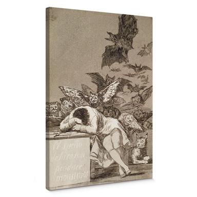 Leinwandbild de Goya - Der Schlaf der Vernunft gebiert Ungeheuer