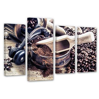 Leinwandbild Kaffeeduft (4-teilig)