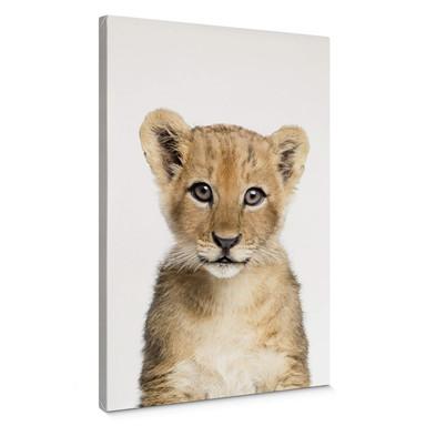 Leinwandbild Sisi & Seb - Baby Löwe