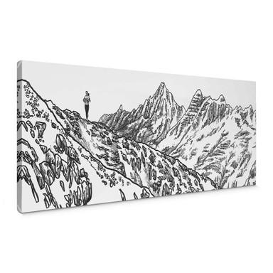 Leinwandbild Sparshott - Der Berglauf - Panorama