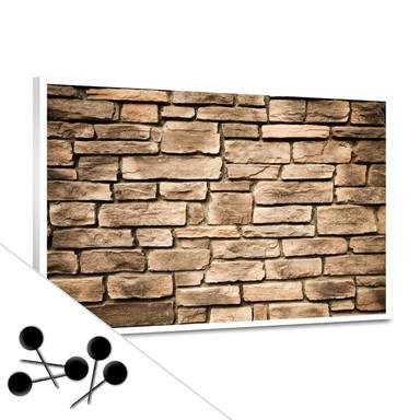 Pinwand Italian Stonewall inkl. 5 Pinnadeln