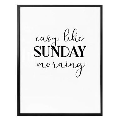 Poster Easy like Sunday morning