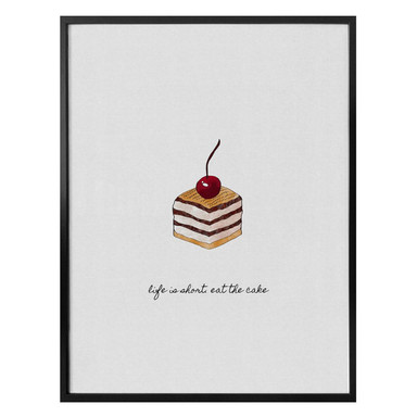 Poster Orara Studio - Life is short eat the cake