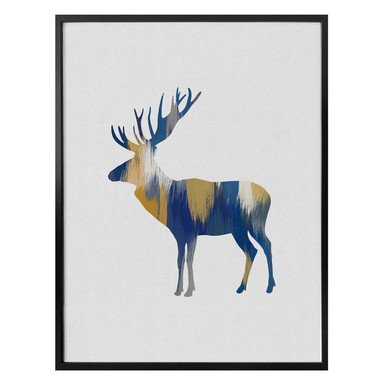 Poster Orara Studio - Moose Blue and Yellow