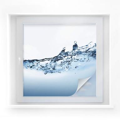 Sichtschutzfolie Water Flow - quadratisch