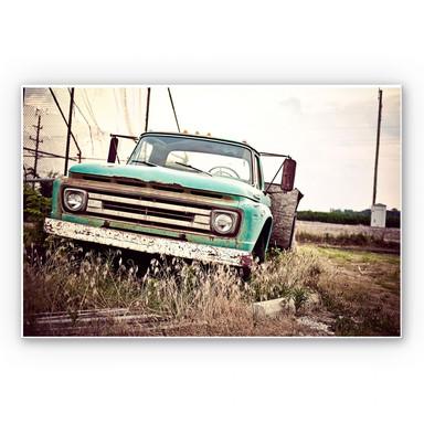 Wandbild American rusted Truck