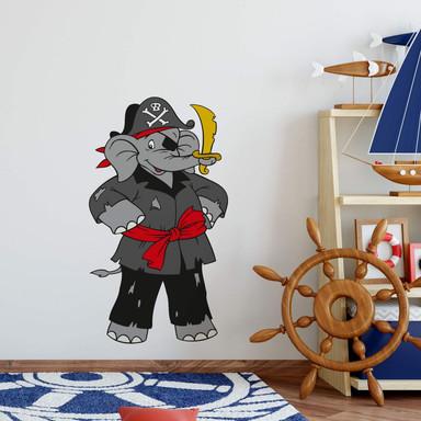 Wandsticker Benjamin als Pirat