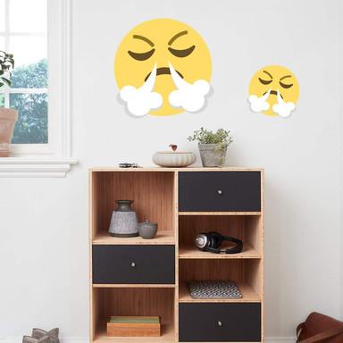 Wandtattoo Emoji Frustrated Face