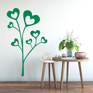 Wandtattoo Herzenpflanze