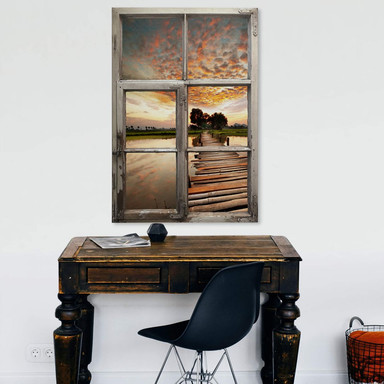 3D Wandtattoo Fenster Shabby - To the other side
