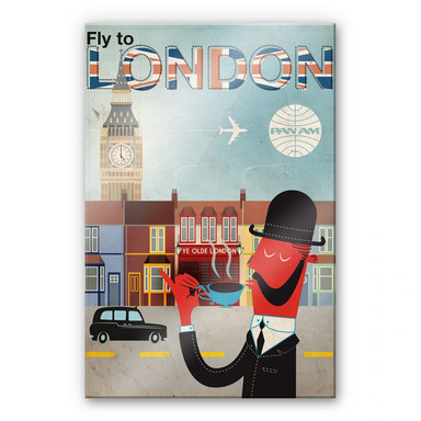 Acrylglasbild PAN AM - Fly to London
