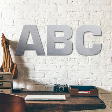 Alu-Dibond Buchstaben - Silbereffekt - Schriftart Swiss