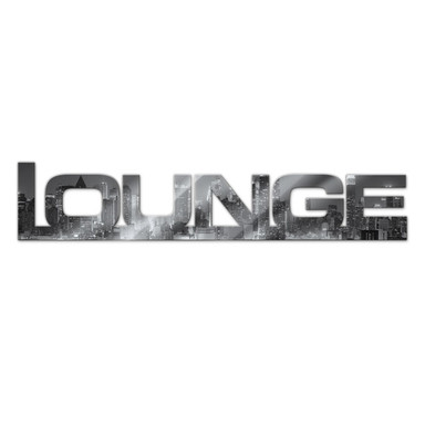 Dekobuchstaben Lounge + 8 Klebepads