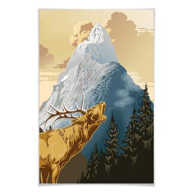 Giant Art® XXL-Poster King of the Mountain - 115x175cm
